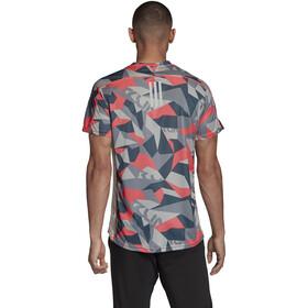 adidas OWN The Run T-shirt Homme, orbit grey/signal pink/legacy blue